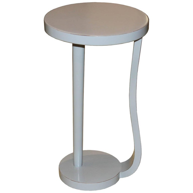 Round Gray Cocktail Table For Sale