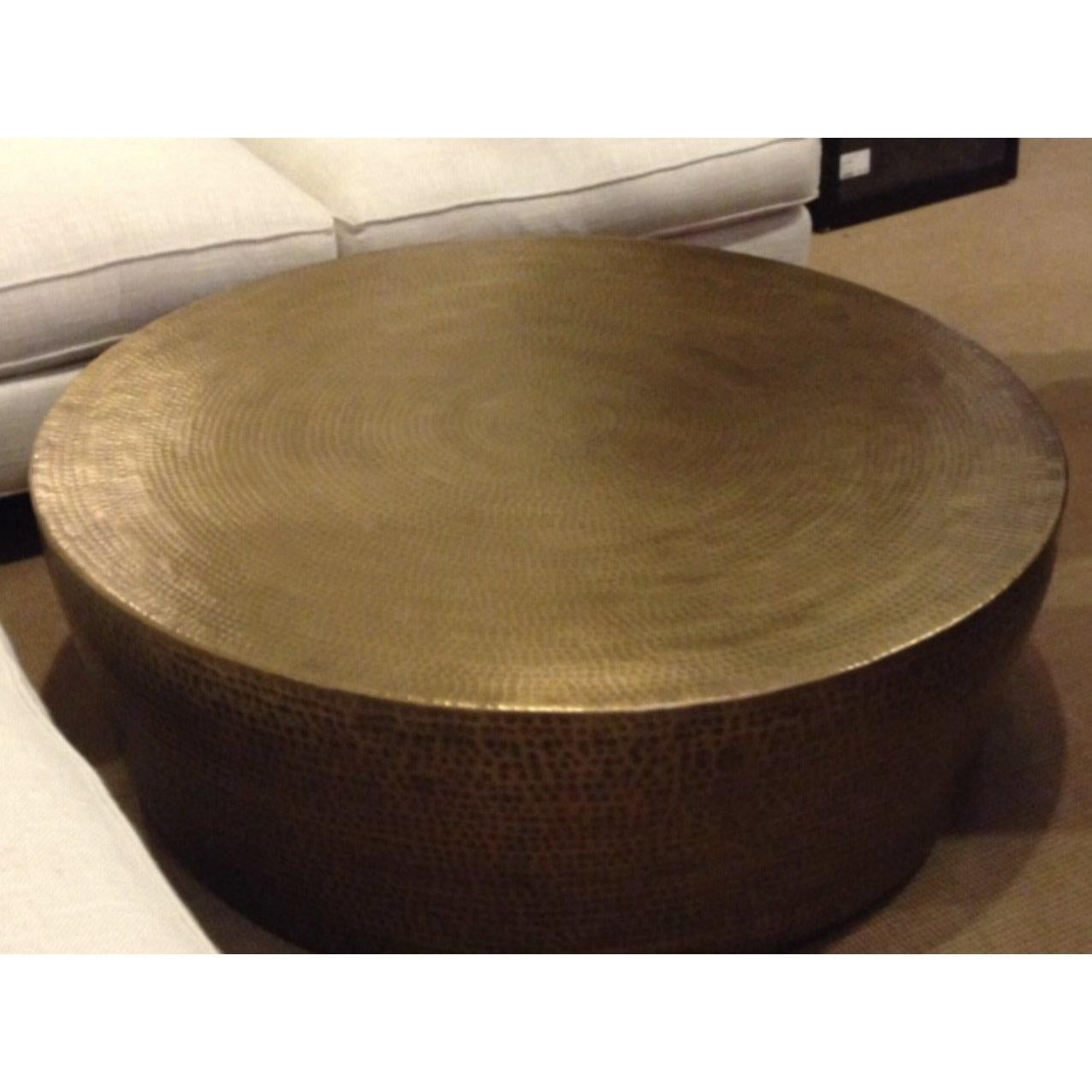 Fabulous Round Hammered Brass Coffee Table For Sale At 1Stdibs Gamerscity Chair Design For Home Gamerscityorg