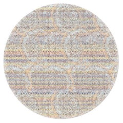 Round Hyper-Modern Colorful Abstract Pattern Rug by Deanna Comellini