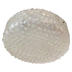 Round Ice Glass Flush Mount Chandelier Hillebrand Style