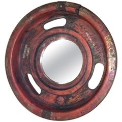 Round Industrial Frame with Mirror