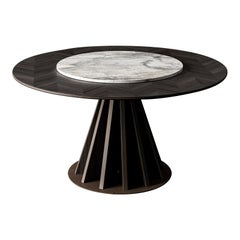 Round Inlaid Dining Table