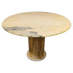 Round Italian Marble Center Table, 1970s