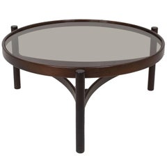 Round Italian Modern Coffee Table Model 775 by Gianfranco Frattini for Cassina