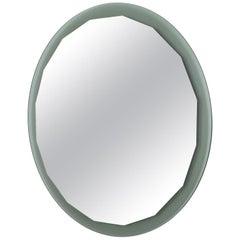 Round Italian Scalloped Mirror, circa 1970