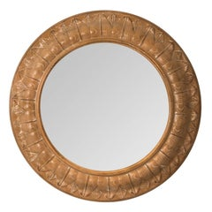 Round Laurel Leaf Mirror