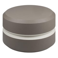Round Leather Coffee Table, Yoyo by Stephane Parmentier for Giobagnara