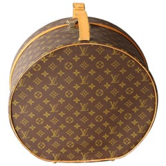 Round Louis Vuitton Hat Trunk 40, Malle à Chapeau Louis Vuitton Ronde