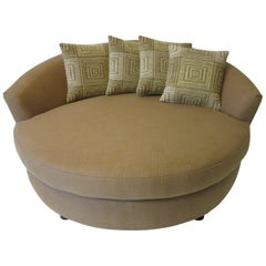 Round Lounger / Sofa Chair in the Style of Baughman / Pearsall