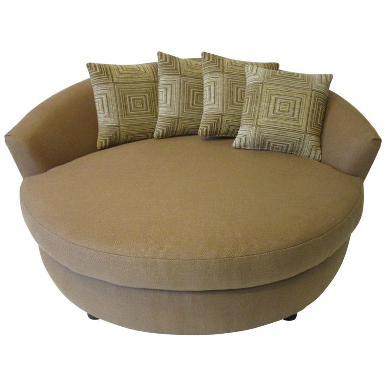 Round Lounger / Sofa Chair in the Style of Baughman / Pearsall For Sale