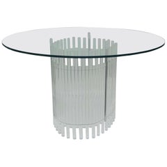 Round Lucite Dining Room Table