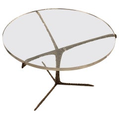 Round Lucite Top Coffee Table, Portugal, Contemporary