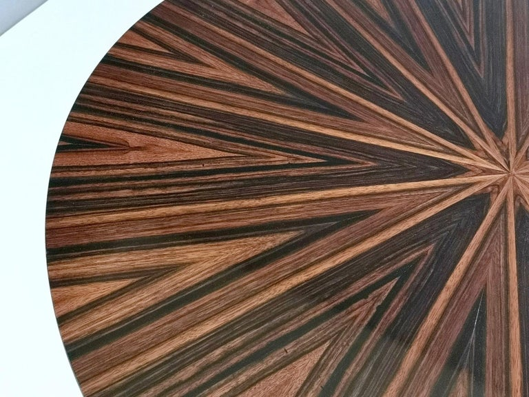 Round Macassar Ebony and Ebonized Beech Dining Table, Italy, 1950s-1960s For Sale 3