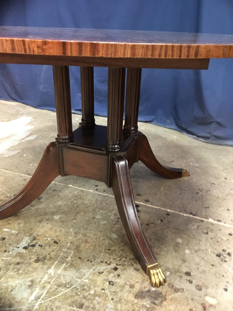 Contemporary Round Mahogany Georgian Style Pedestal Dining Table by Leighton Hall For Sale