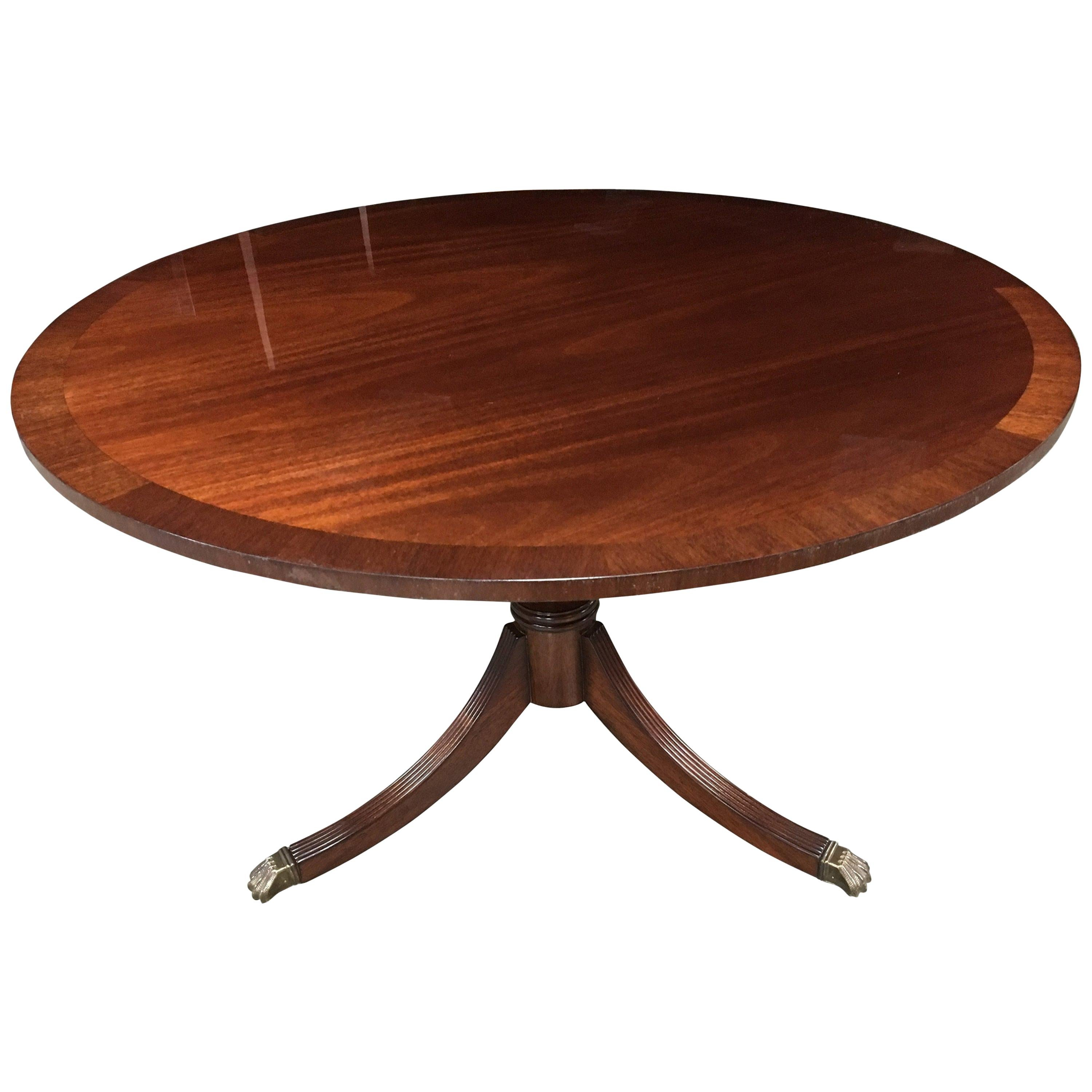 Round Mahogany Georgian Style Accent Foyer Table by Leighton Hall