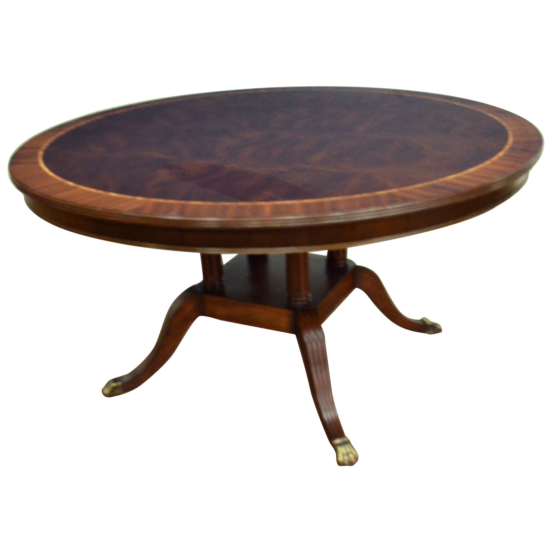 Round Mahogany Georgian Style Dining Table by Leighton Hall