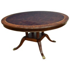 Round Mahogany Georgian Style Dining Table by Leighton Hall