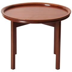 Round Mahogany Side Table Attributed to Ole Wanscher