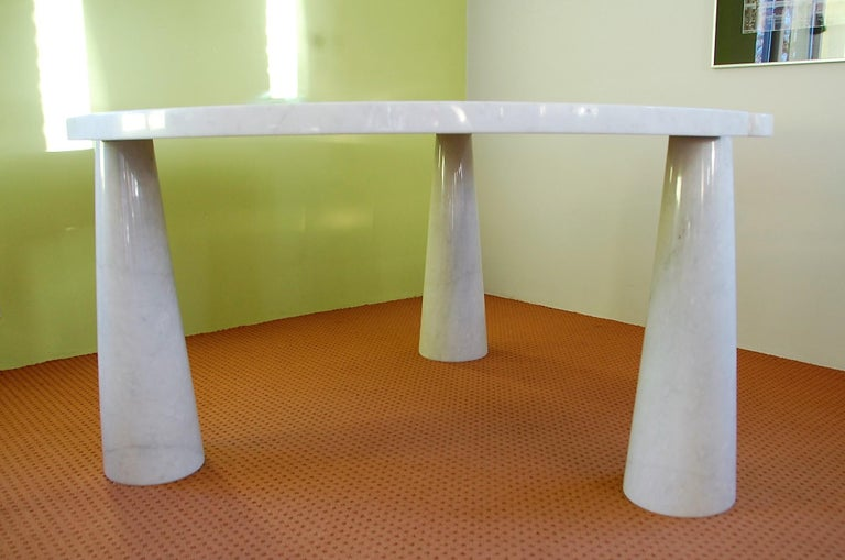 Mid-Century Modern Round Marble Eros Dining Table by Angelo Mangiarotti for Skipper, Italy, 1970s For Sale