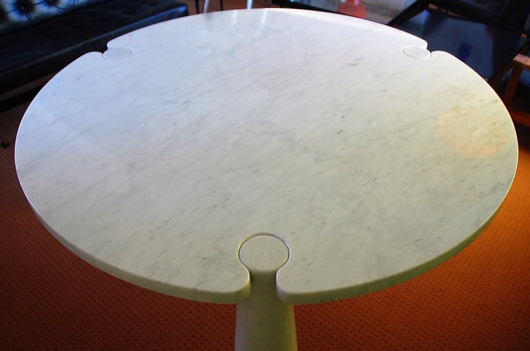 Round Marble Eros Dining Table by Angelo Mangiarotti for Skipper, Italy, 1970s In Good Condition For Sale In Steenwijk, NL