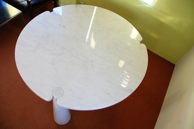 Late 20th Century Round Marble Eros Dining Table by Angelo Mangiarotti for Skipper, Italy, 1970s For Sale