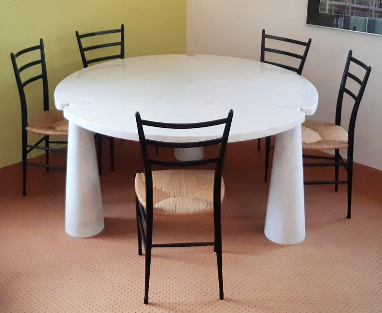 Round Marble Eros Dining Table by Angelo Mangiarotti for Skipper, Italy, 1970s For Sale 1