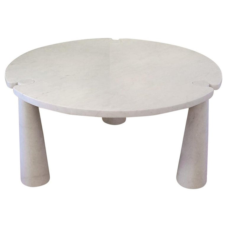Round Marble Eros Dining Table by Angelo Mangiarotti for Skipper, Italy, 1970s For Sale