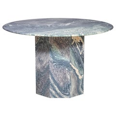 Round Marble Table with Pedestal Base