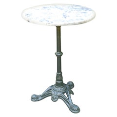 Round Marble-Top Bistro Table