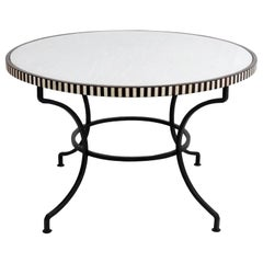 Round Marble-Top Table