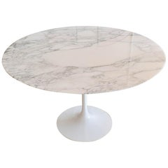 Round Marble Tulip Table by Eero Sarrinen for Knoll