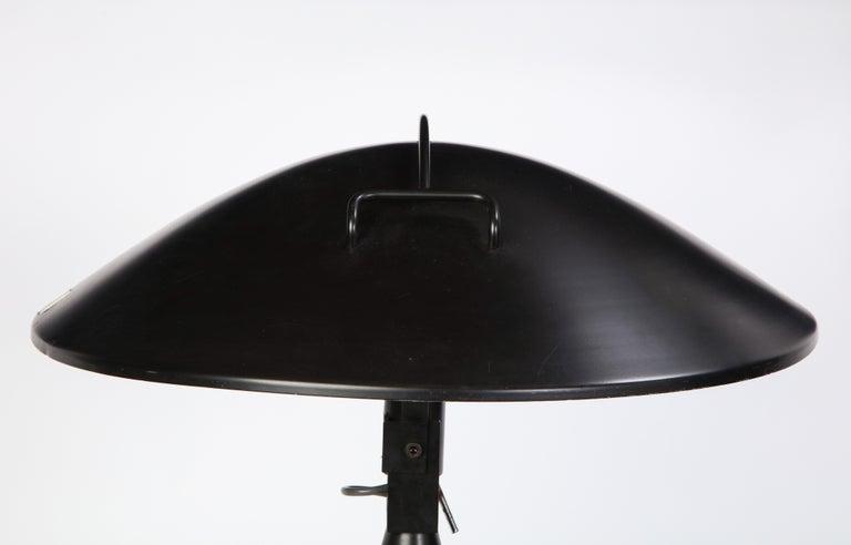 Round Metal Desk Lamp in Black, Modern For Sale 6