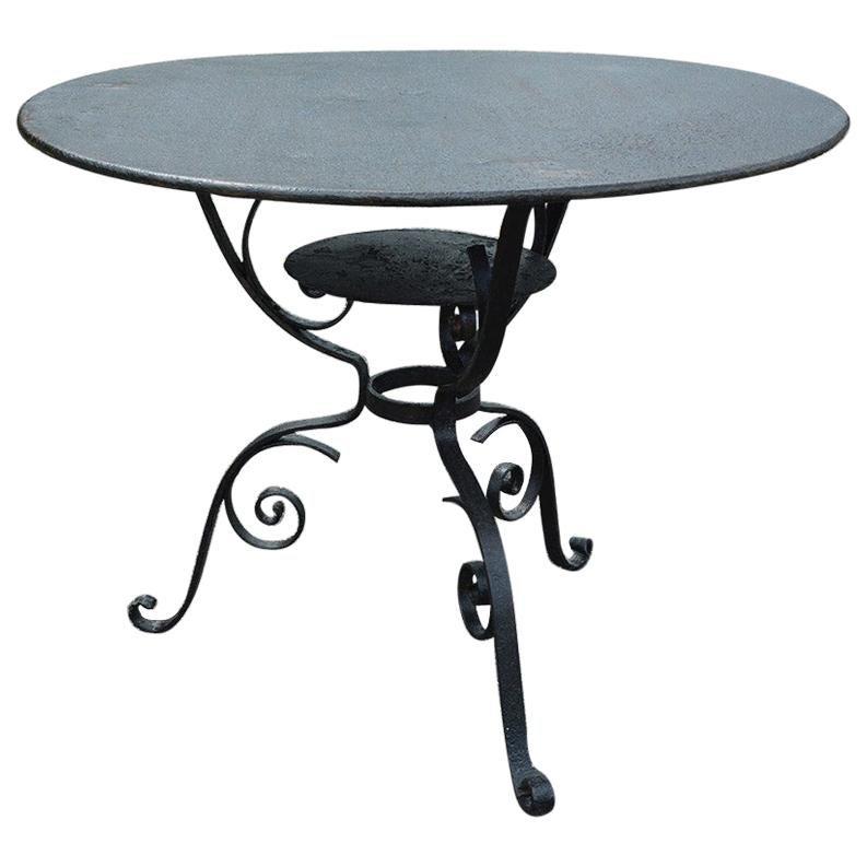 Round Metal Garden Bistro Table
