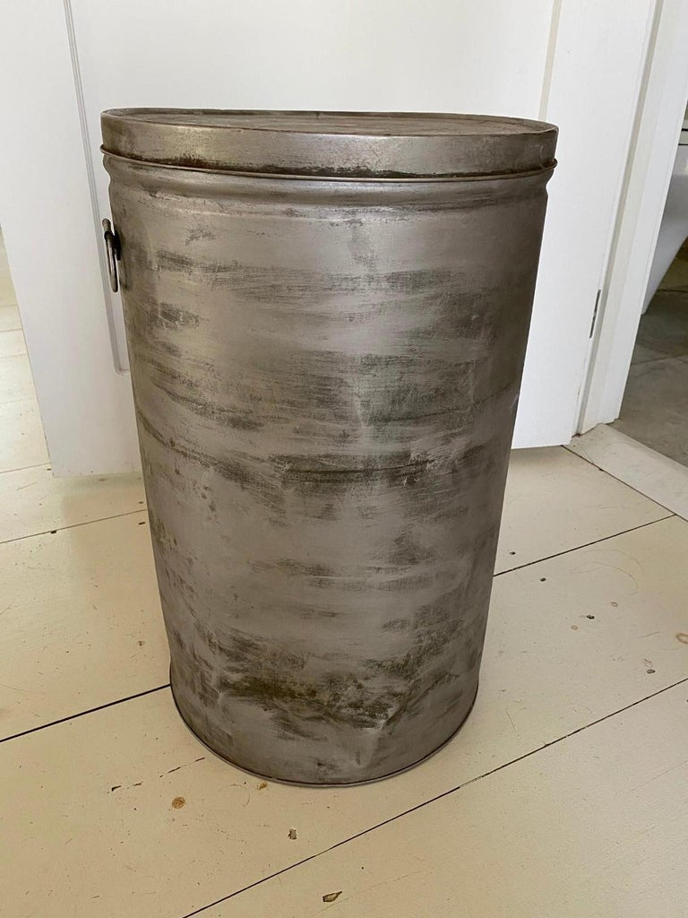 American Round Metal Grain Container or Storage Vessel For Sale