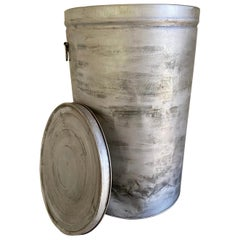 Round Metal Grain Container or Storage Vessel