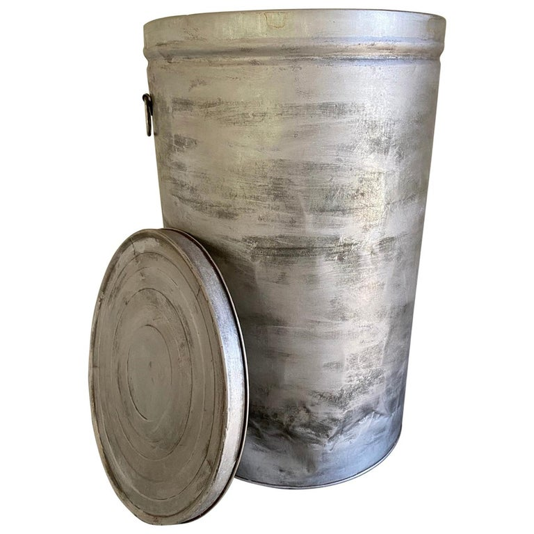 Round Metal Grain Container or Storage Vessel For Sale