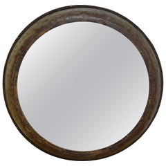 Round Metal Mirror from Spain
