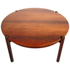 Round Midcentury Coffee Table by Hans J. Frydendal