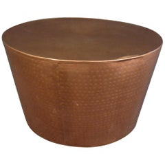 Round Mid-Century Copper Side Table