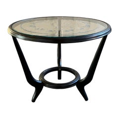 Round Mid-Century Modern Paolo Buffa Style Occasional or Side Table, Italy 1950s