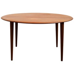 Round Midcentury Teak Coffee Table by Peter Hvidt & Orla Mølgaard Nielsen