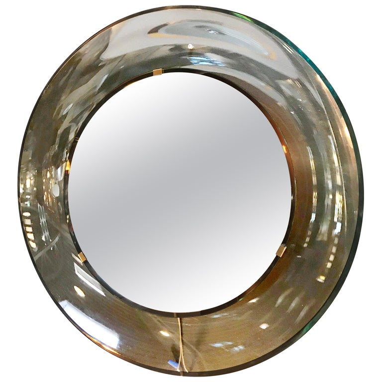 Round Mirror by Max Ingrand for Fontana Arte, Italy, 1960s For Sale