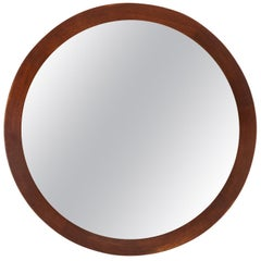 Round Mirror in Teak Produced by Glas & Trä Hovmantorp in Sweden