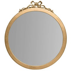 Round Mirror with Gold Leaf