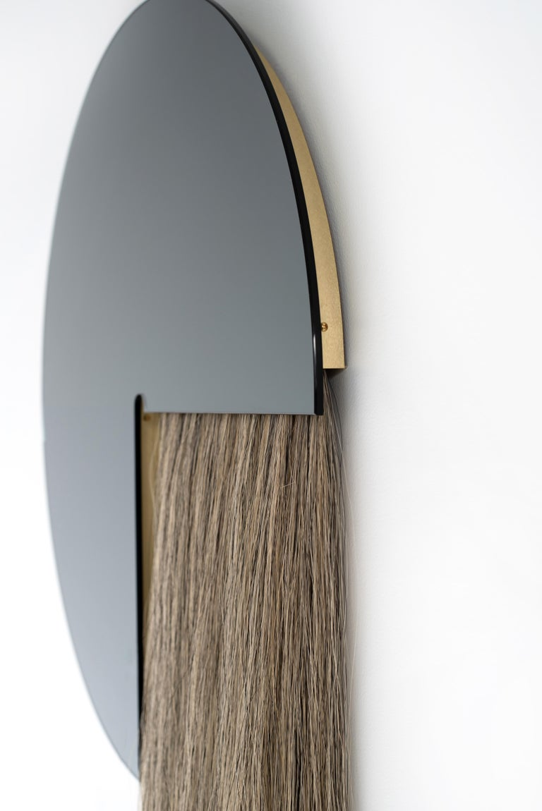 Round Mirror with Mongolian Horsehair, Aries by Ben and Aja Blanc For Sale 2