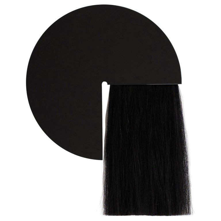 Round Mirror with Mongolian Horsehair, Aries by Ben and Aja Blanc For Sale
