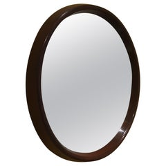 Round Mirror with Rosewood Frame, 1960s