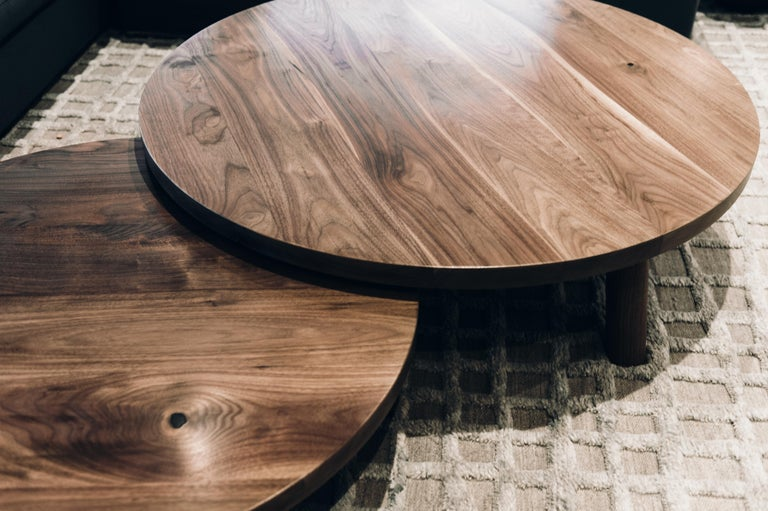 Round Nesting Low Coffee Tables In Walnut For Sale At 1stdibs