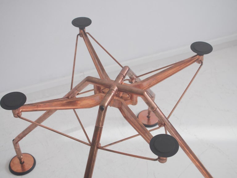 Steel Round Nomos Dining Table by Sir Norman Foster & Partner For Sale
