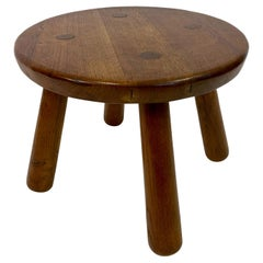 Round Oak Table in the Style of Philip Arctander